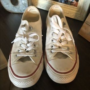 Women's white Converse
